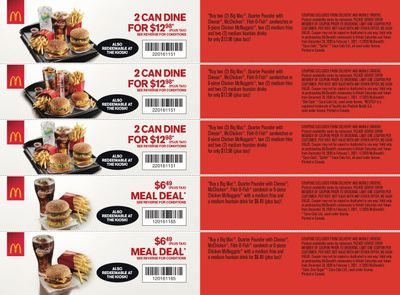 McDonald's Canada Coupons (SK) Valid until February 1