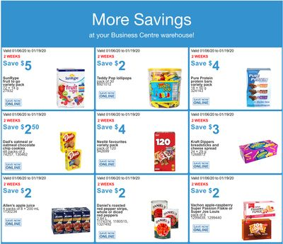 Costco Canada Business Centre Instant Savings Coupons / Flyer, January 6 – 19