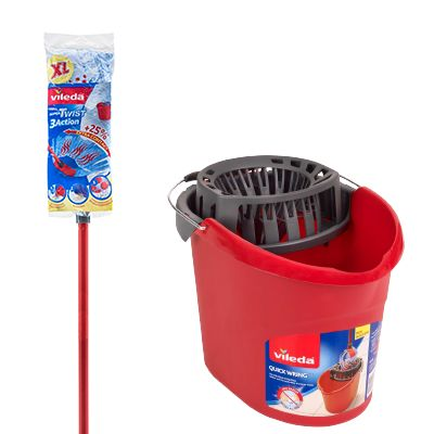 Save $3 with the combined purchase of a SuperTwist Mop and a Quick Wring Bucket