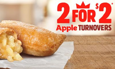 2 for $2 Apple Turnovers at Burger King