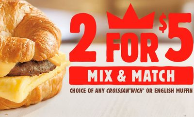 2 for $5 Mix & Match at Burger King