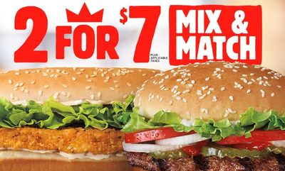 2 for $7 Mix & Match at Burger King