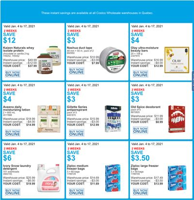 Costco Canada More Savings Weekly Coupons/Flyers for: Quebec, until January 17