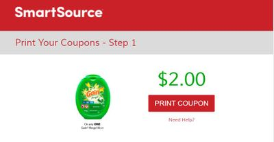 SmartSource Canada Coupons: Save $2 On Gain Flings