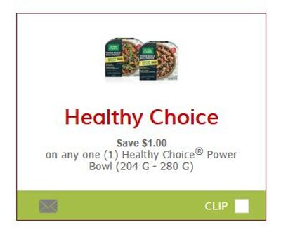 SmartSource Canada Coupons: Save $1 On Healthy Choice Power Bowls