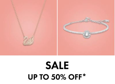 Swarovski Canada Sale: Save up to 50% off Earrings, Necklaces, Bracelets & More + an Extra 10% – 15% off Sale Items with Coupon Code