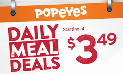 Daily Meal Deals - Starting at $3.49 at Popeyes