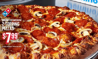 $7.99 Med Pizza at Domino's Pizza