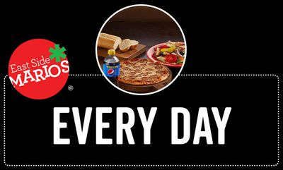 NEW! PERSONAL PIZZA DEAL at East Side Mario\'s