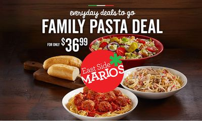 FAMILY PASTA DEAL at East Side Mario\'s