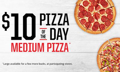 $10 Medium Pizza of the Day at Pizza Hut