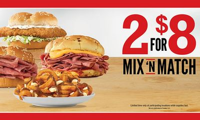 2 for $8 Mix 'N Match promotion is back! at Arby's