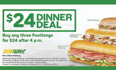 $24 DINNER DEAL at Subway