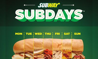 Subway Sub of the Day deals!