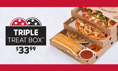 $33.99 The Triple Treat Box at Pizza Hut