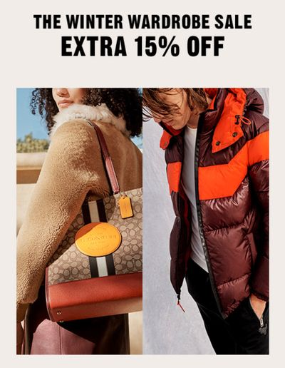 Coach Outlet Canada Winter Wardrobe Sale: Save up to 70% off + an Extra 15% Off with Coupon Code + More Deals!