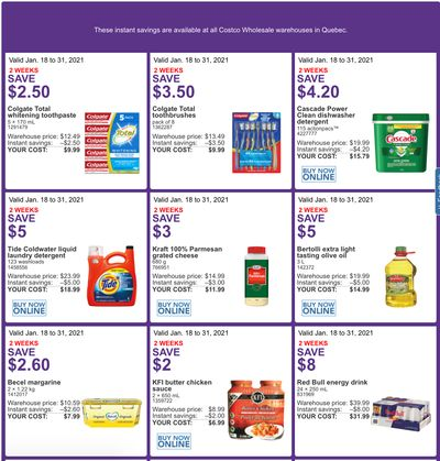 Costco Canada More Savings Weekly Coupons/Flyers for: Quebec, until January 31