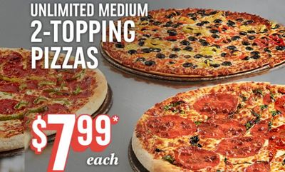 Unlimited Two Topping at Domino's Pizza