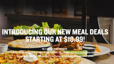 NEW MEAL DEALS  at Boston Pizza