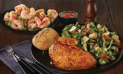 Quarter Chicken White & Garlic Shrimp at Swiss Chalet