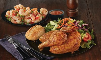 Half Chicken & Garlic Shrimp at Swiss Chalet