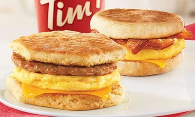 2 for $5 Classic Breakfast Sandwiches at Tim Hortons