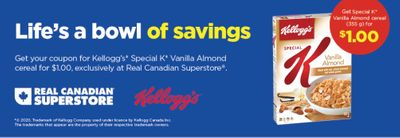 Real Canadian Superstore Coupons: Get Special K Vanilla Almond For $1