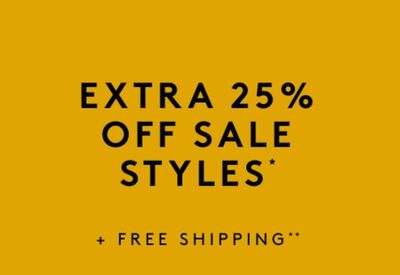 Naturalizer Canada Sale: Save an Extra 25% off Sale Styles + FREE Shipping with Coupon Code!