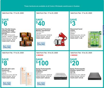 Costco Canada More Savings Weekly Coupons/Flyers for: Quebec, February 10 – 16