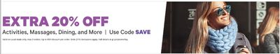 Groupon Canada Deals: Save an EXTRA 20% Off Beauty & Spas, Activities, Tech & More With Coupon Code
