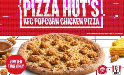 Pizza Hut's KFC Popcorn Chicken Pizza