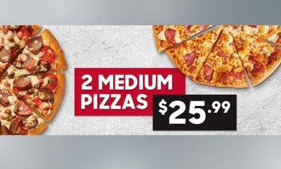 Two Medium Pizzas Deal! at Pizza Hut