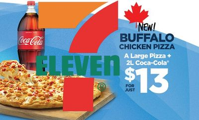 Buffalo Chicken Pizza at 7-Eleven