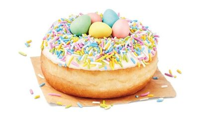 Cadbury Mini Eggs Dream Donut. at Tim Hortons