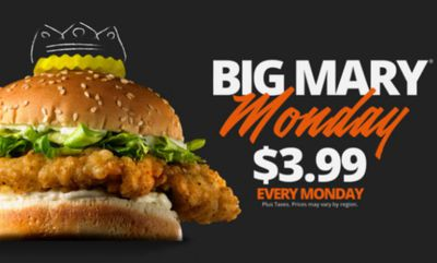 BIG Mary MONDAYS at Mary Brown's