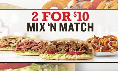 2 FOR $10 at Arby's