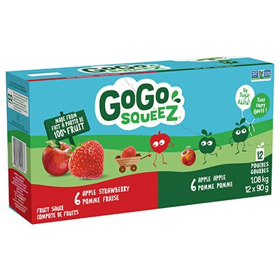 Save $1.25 on one (1) value pack of GoGo squeeZ fruit sauce (1.08kg or larger)