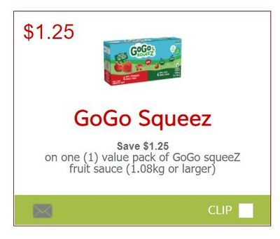 SmartSource Canada Coupons: New GoGo Squeez Coupons Available