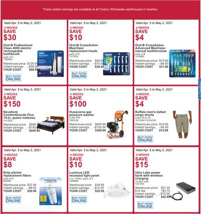 Costco Canada More Savings Weekly Coupons/Flyers for: Quebec, until May 2