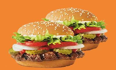 2 For $8 Whopper at Burger King