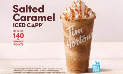 Salted Caramel Iced Capp at Tim Hortons