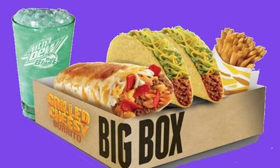 Grilled Cheesy Burrito Big Box at Taco Bell Canada