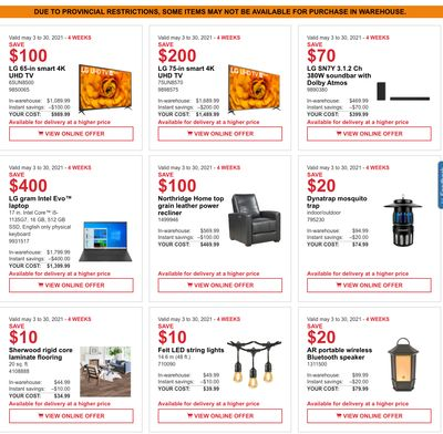 Costco Canada MoreSavings Weekly Coupons/Flyers: All Costco Wholesale Warehouses in Canada Until May 30