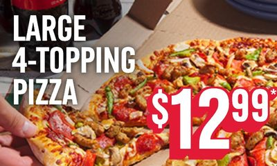 1 Large 4 Topping Pizza at Domino's Pizza