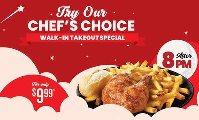 Chef's Choice Walk-In Takeout Special at Swiss Chalet