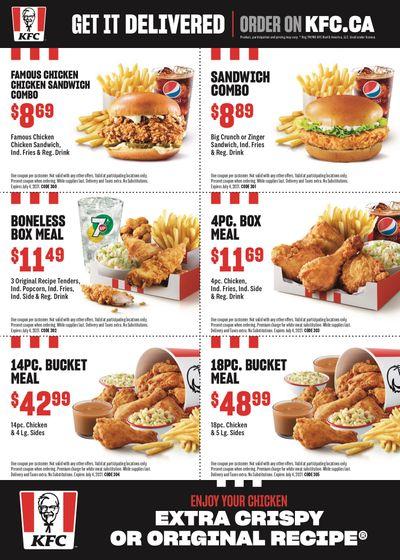 KFC Canada Coupons (Alberta-Red-Deer), until July 4, 2021