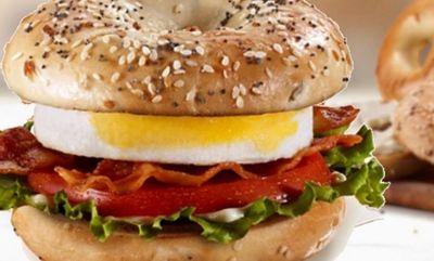 BLT Bagel with Egg on Full Taste Bagel at McDonald's Canada