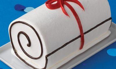 TheDiploma Roll Cake at Baskin Robbins