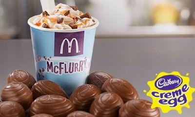 Cadbury Creme Egg McFlurry at McDonald's Canada