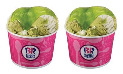Sour Berry Lime Slime at Baskin Robbins